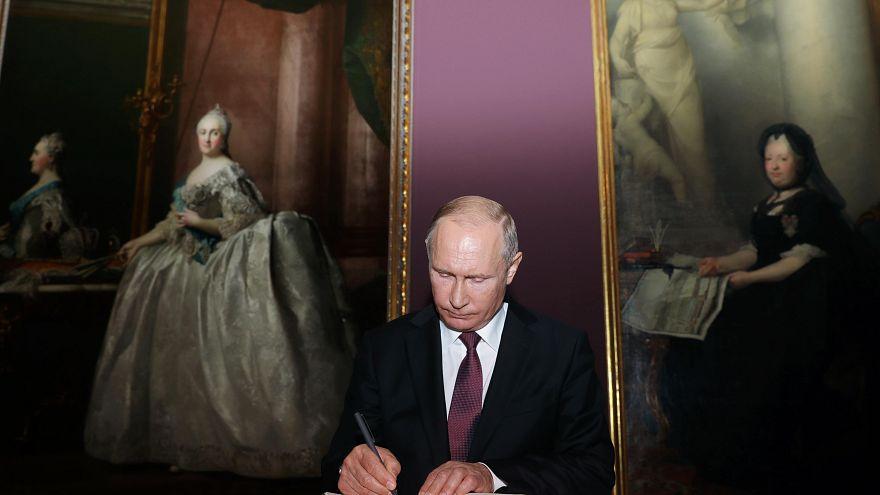 Putin no Museu de história da Arte de Viena