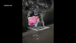 Bebé resgatado entre as cinzas do Vulcão de Fogo
