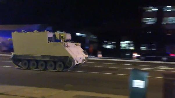 A stolen armoured personal carrier