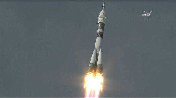 Astronaut Alexander Gerst auf dem Weg zur ISS