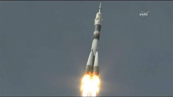 Soyuz blasting off for the ISS