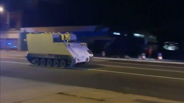 A la caza de un tanque robado durante 100 kilómetros