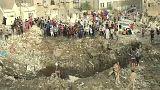 مكان الانفجار بمدينة الصدر في بغداد
