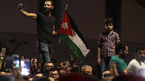 En Jordania, las manifestaciones se extienden por todo el país