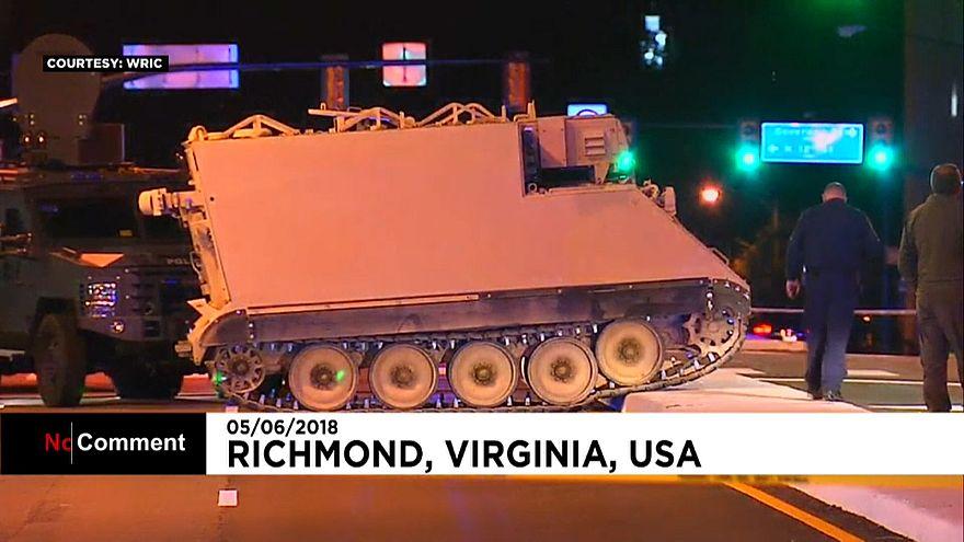 Etats-Unis : le voleur d'un véhicule militaire pris en chasse par la police