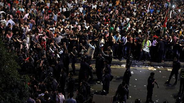 Jordanos na rua contra a austeridade