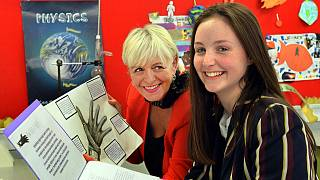 Elaine Manton with Emma, one of her award-winning students