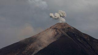 The Fuego volcano is seen from Alotenango, Guatemala