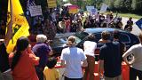 People protest against the 2012 Bilderberg meeting in Virginia, US.