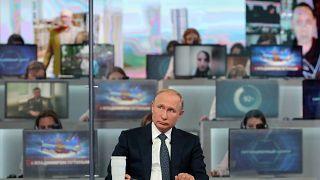 Die russische Bevölkerung konnte Putin Fragen stellen.