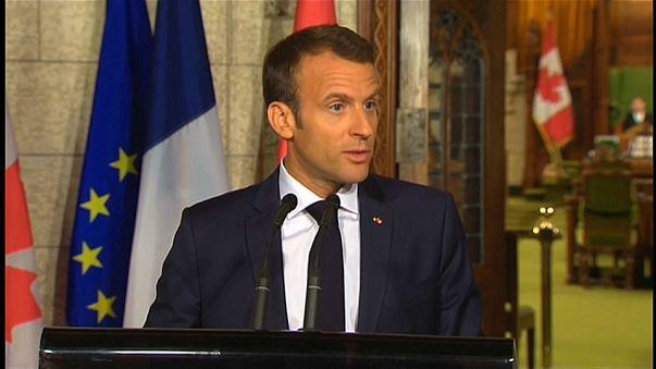 Macron: G7'de Trump'a baskı yapacağız