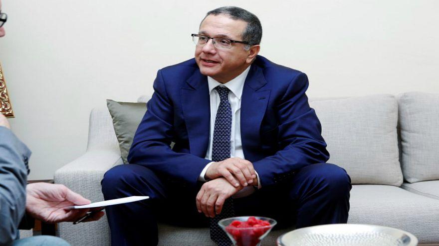 وزير المالية المغربي محمد بوسعيد خلال مؤتمر في مراكش