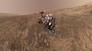 NASA's Curiosity Mars Rover on the Martian surface in February 2018