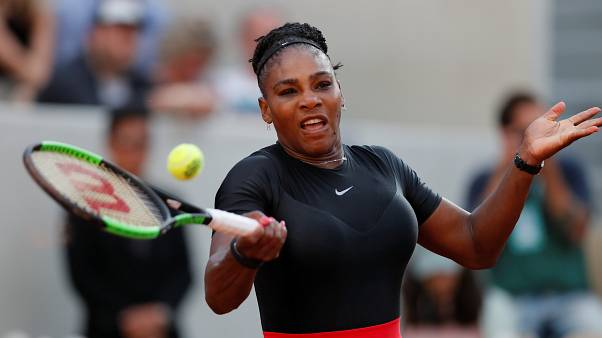 Serena Williams  during her third round match