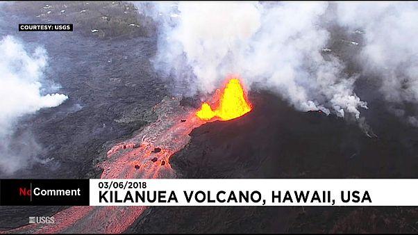 Hawaï : l'éruption du Kilauea vue du ciel