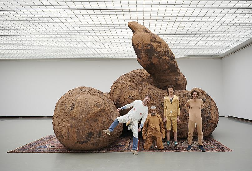 These giant poo sculptures prove 'contemporary art is not s