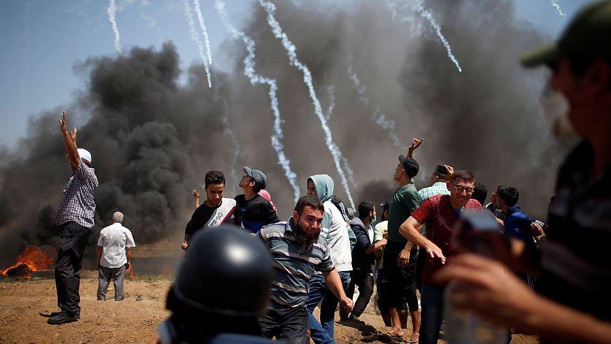 Un centenar de heridos en las protestas en Gaza, entre ellos dos periodistas
