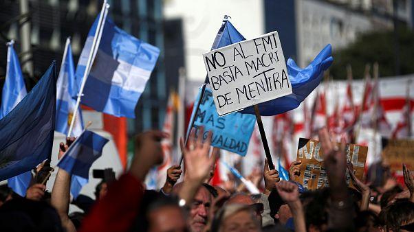 Argentin tüntetők 2018. május 25-én