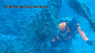 Les filets perdus, pièges des fonds marins