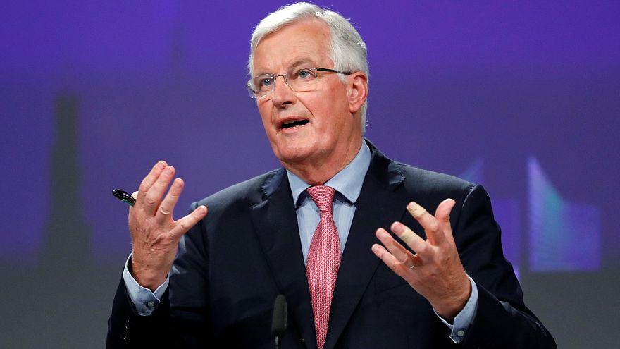 Michel Barnier brüsszeli sajtótájékoztatóján