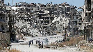 دمار المدن السورية جراء المعارك