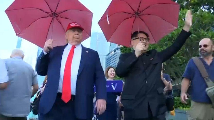 Los dobles de Trump y Kim Jong Un ya están en SIngapur