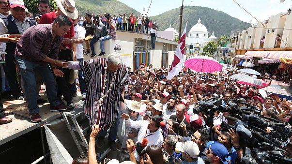 Imágen de la campaña del izquierdista Andres Manuel Lopez Obrador