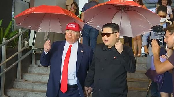 """Schon da: """"Kim und Trump"""" in Singapur"""
