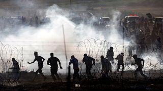 Al menos tres palestinos muertos y 600 heridos en Gaza