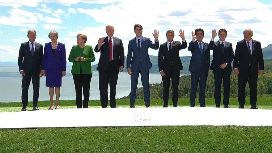 Trotz Handelsstreit: G7-Gipfel in Kanada gibt sich friedlich