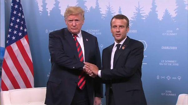 Macron y Trump rebajan la tensión del G7