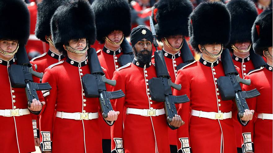 Sikh guardsman first to wear turban at Trooping the Colour