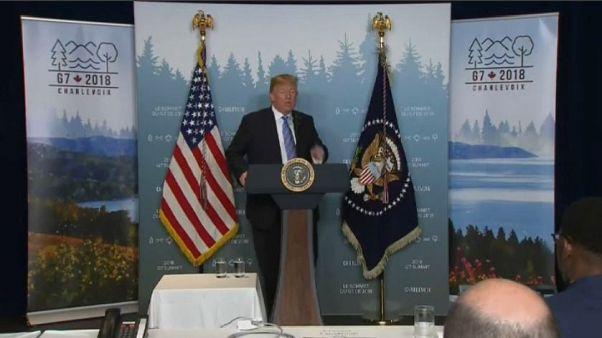 """G7, Trump: """"5 secondi per capire serietà di Kim"""""""