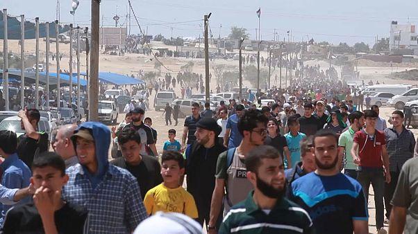 İsrail-Gazze sınırında yine kan aktı
