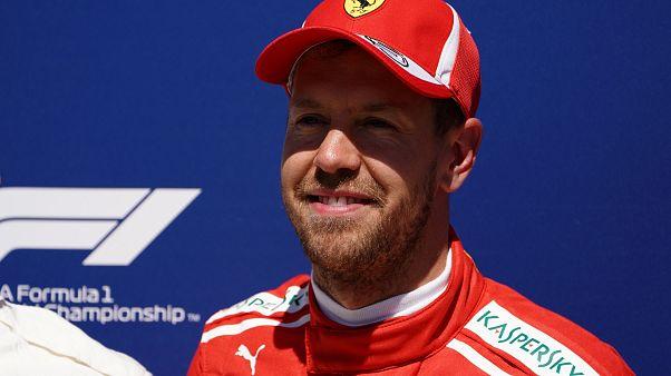 """F1: Sebastian Vettel com """"pole position"""" e novo recorde em Montréal"""
