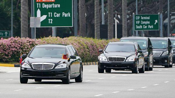 Kim Dzsongun megérkezett Szingapúrba