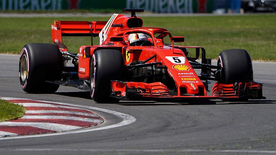 Ferrari's Sebastian Vettel in action