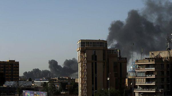 حريق في أحد أكبر مخازن صناديق الاقتراع قبل إعادة فرز الأصوات ببغداد