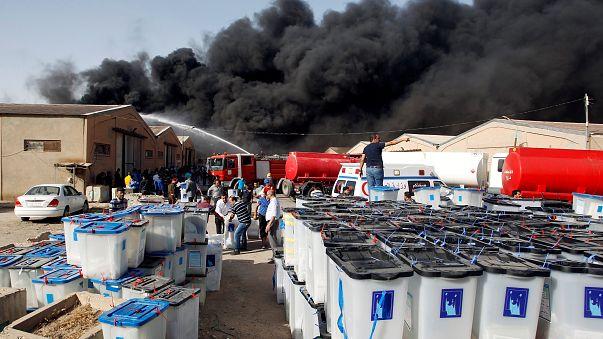 Yeniden sayım öncesi Bağdat'ta seçim sandıkları yandı