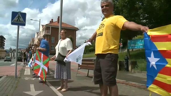 Cadeia humana em nome da autodeterminação no País Basco