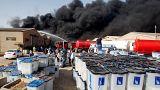 Tűz az iraki szavazólapokat őrző raktárban