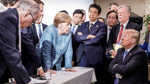 Merkel califica de 'deprimente' la actitud de Trump