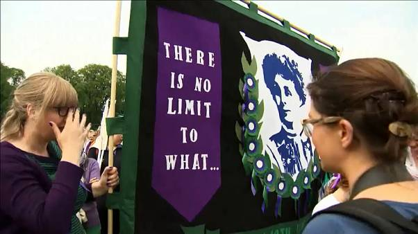 Marches held across UK to celebrate a 100 years of the right to vote for women