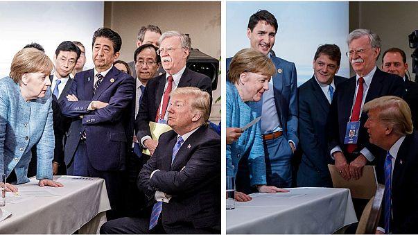 Un solo momento, cinco relatos diferentes de la reunión del G7