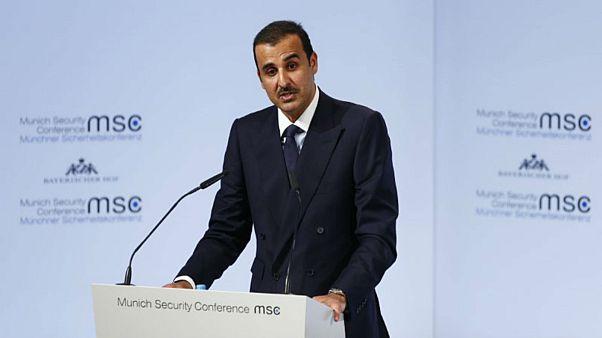 أمير قطر الشيخ تميم بن حمد بن خليفة آل ثاني يتحدث في مؤتمر ميونيخ للأمن