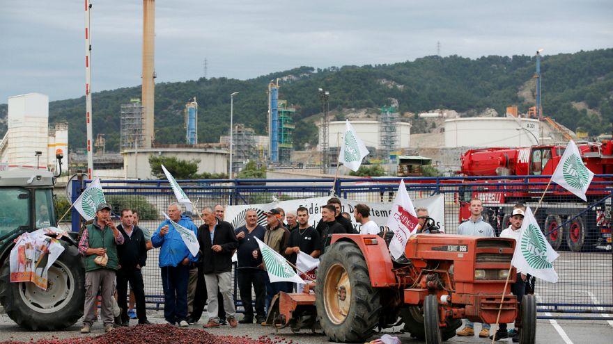 Háromnapos blokád Franciaországban