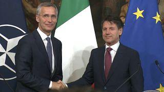 Incontro a Palazzo Chigi tra Conte e Stoltenberg: Italia pilastro della Nato