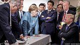 5 Länder, 5 Fotos, 5 Perspektiven: Trump und Merkel beim G7