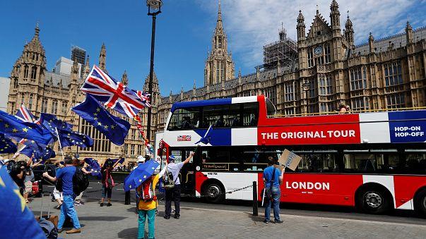 Anti-Brexit demonstrators protest in London