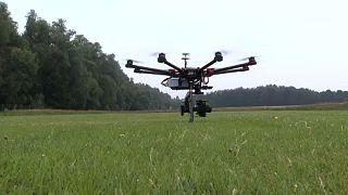 Drone prenant son envol